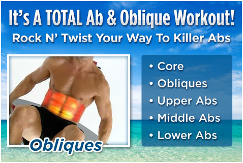 It's A TOTAL Ab & Oblique Workout! Rock N' Twist Your Way To Killer Abs.